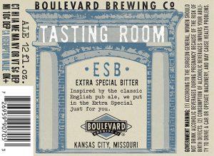 Tasting Room ESB is 4.9% ABV and 36 IBUs.