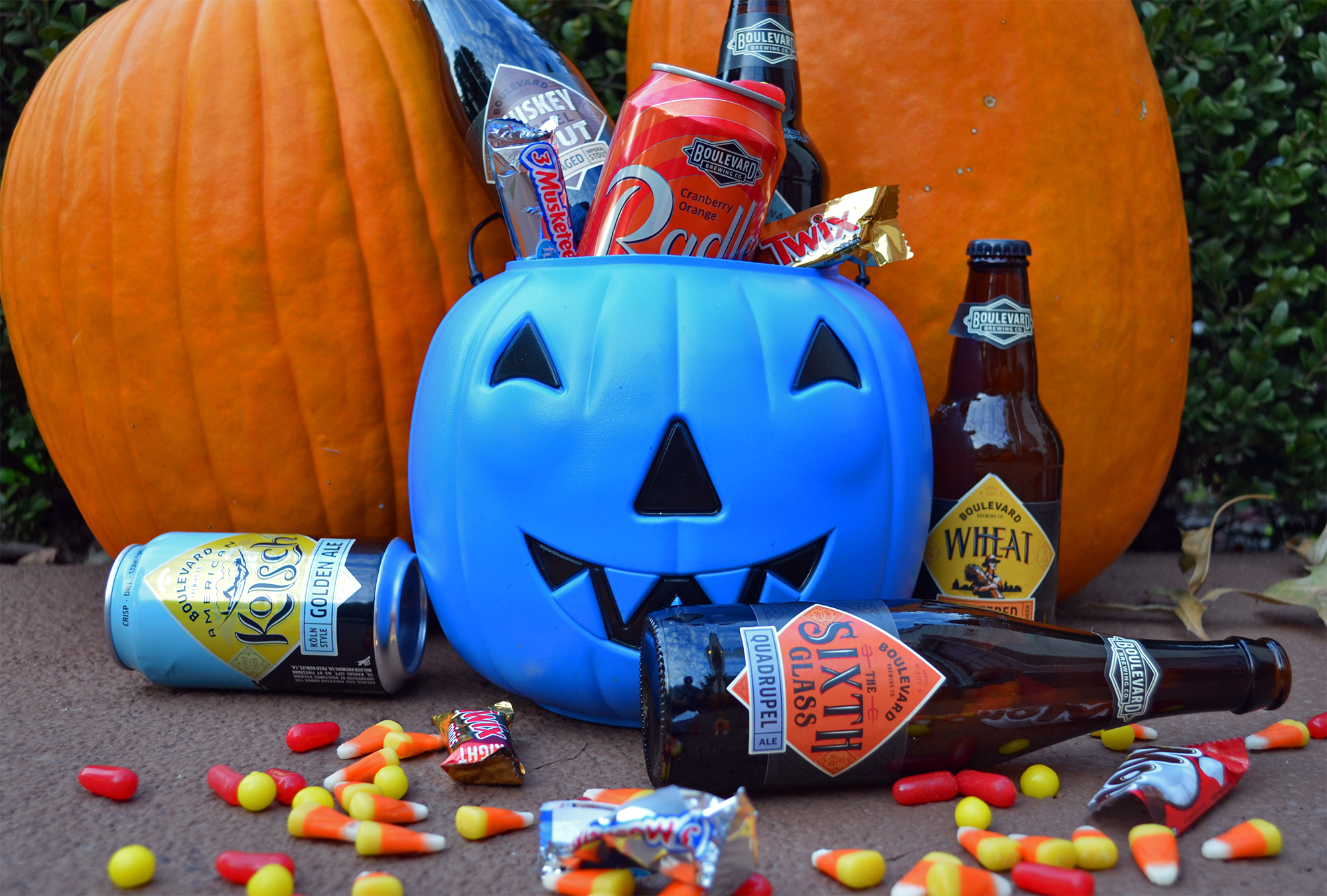 Boulevard beer and Halloween candy