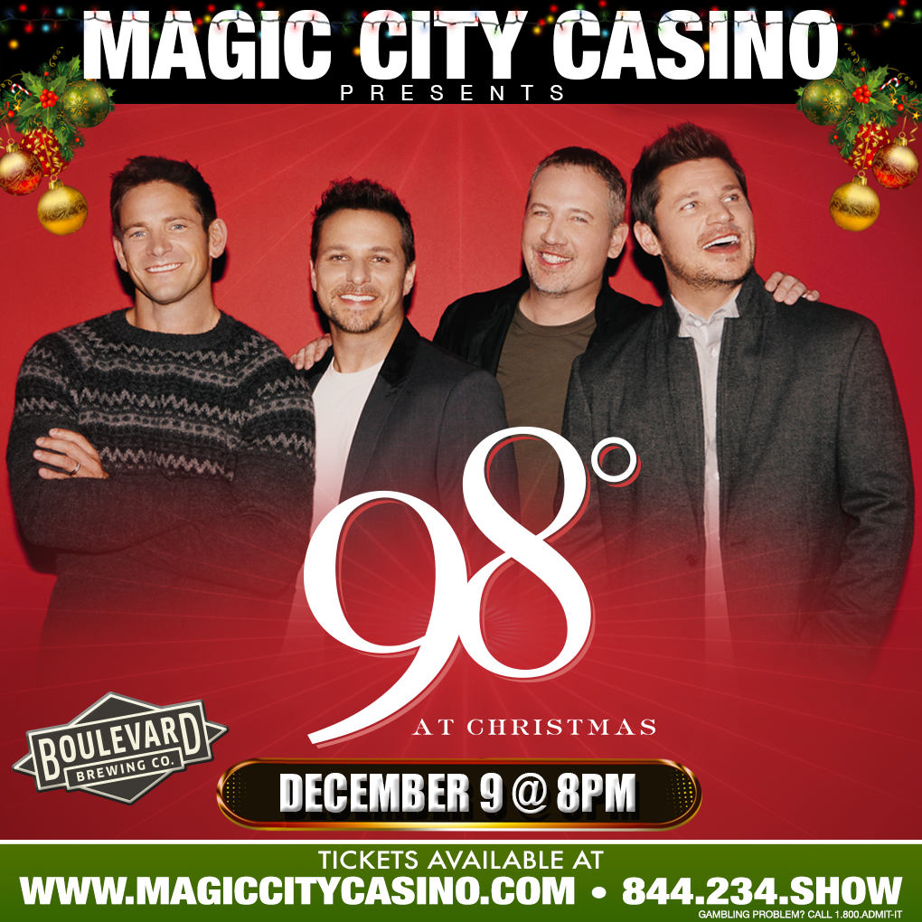 boulevard is excited to be the official craft beer sponsor of the magic city casino concert series on saturday 129 join us for 98 degrees at christmas