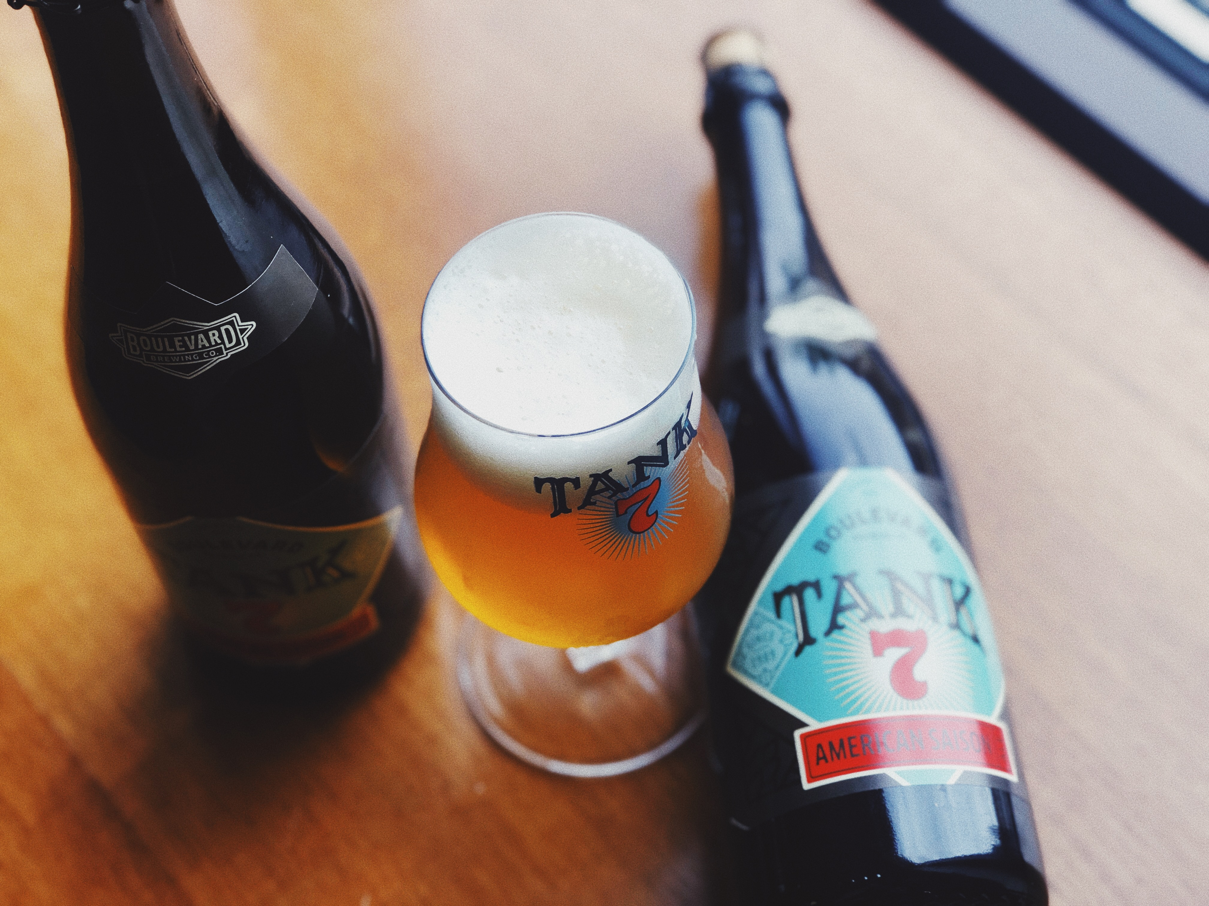 Tank 7 in Tulip with Bottles