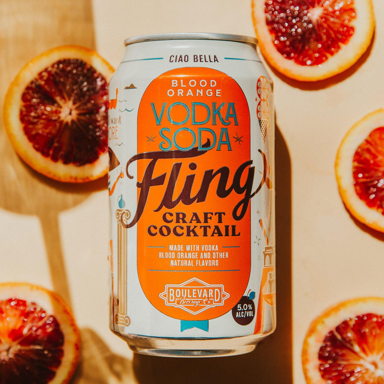 Blood Orange Vodka Soda