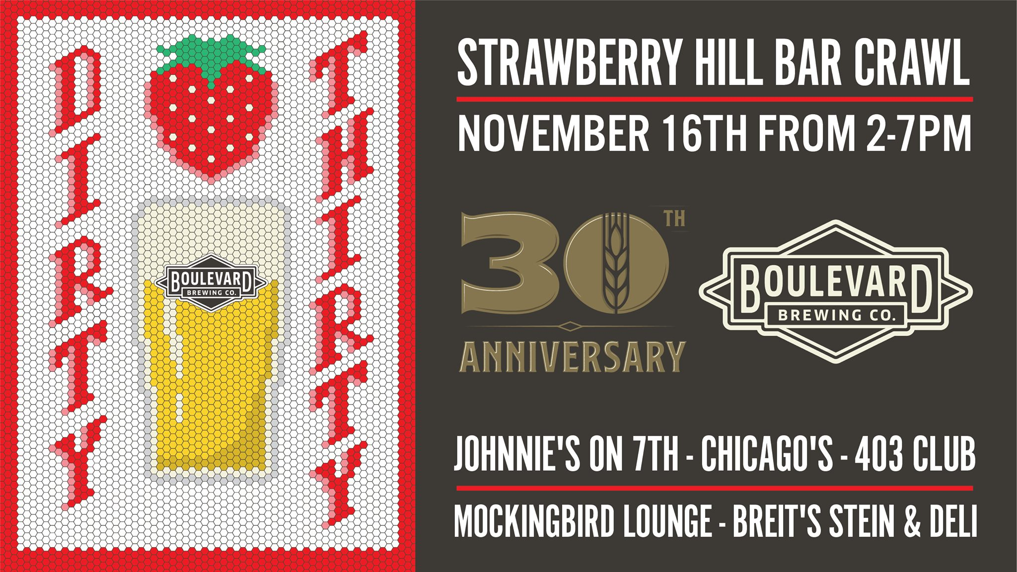 Dirty Thirty Strawberry Hill Bar Crawl