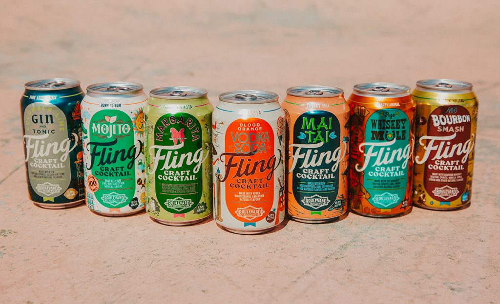Group of Fling cans