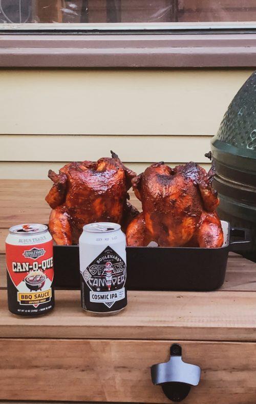 Space Camper Beer Can Chicken