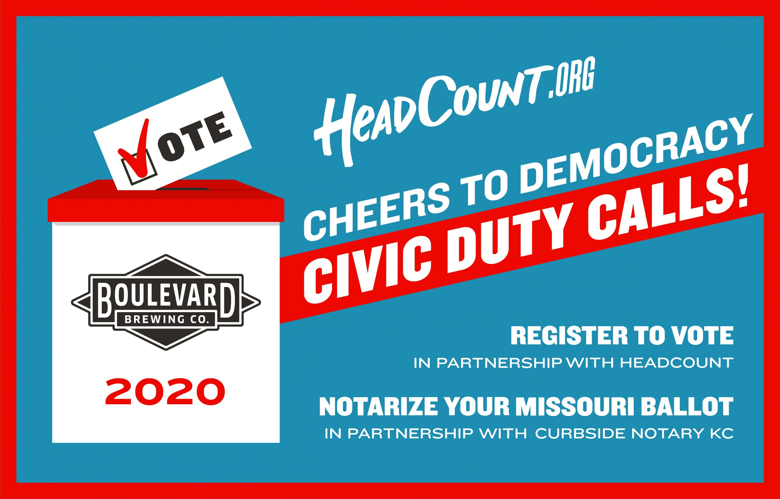 Cheers to Democracy Voting Events at Boulevard Brewing Co.