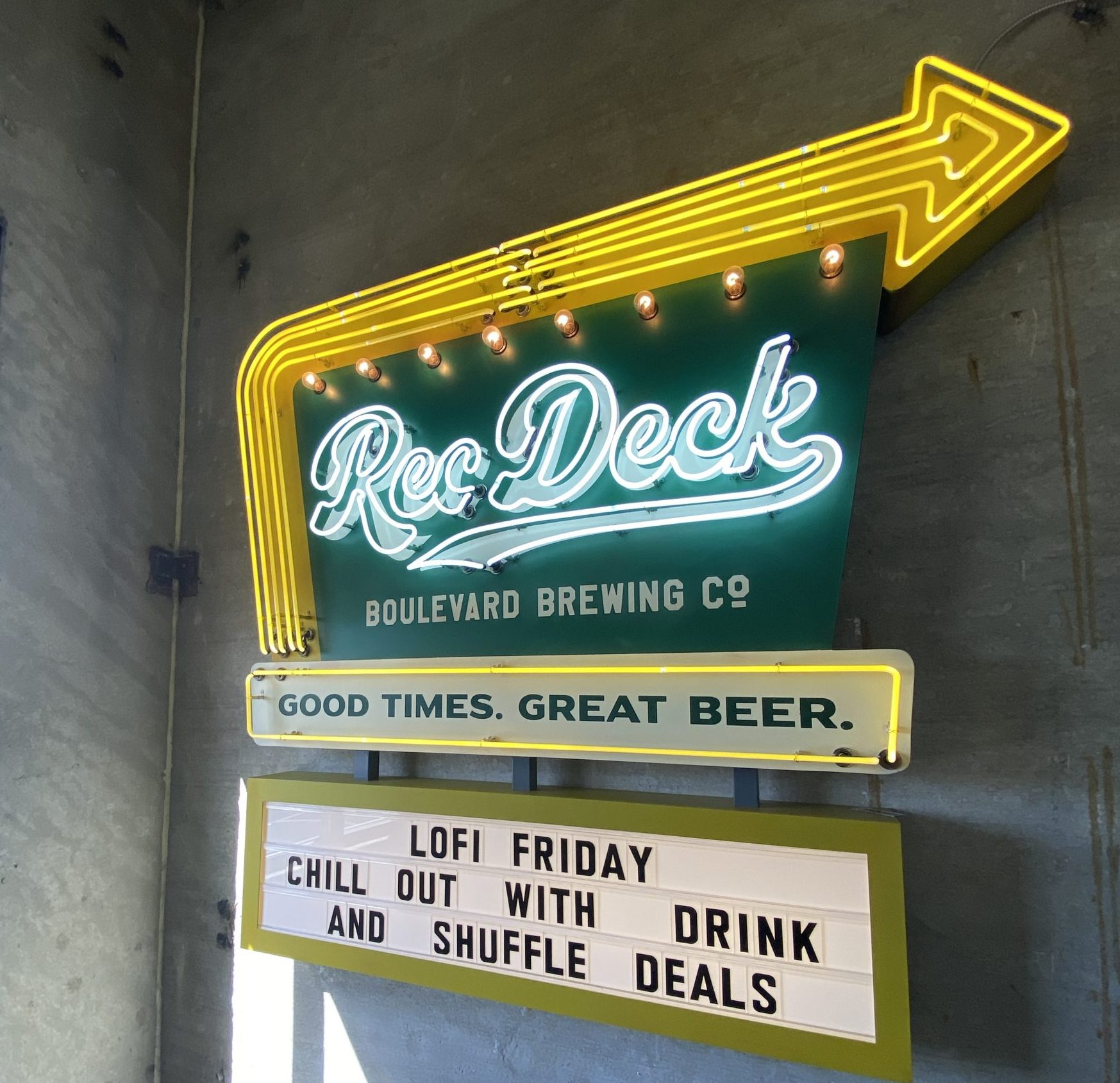 Rec Deck Marquee Sign - LoFi Friday Happy Hour