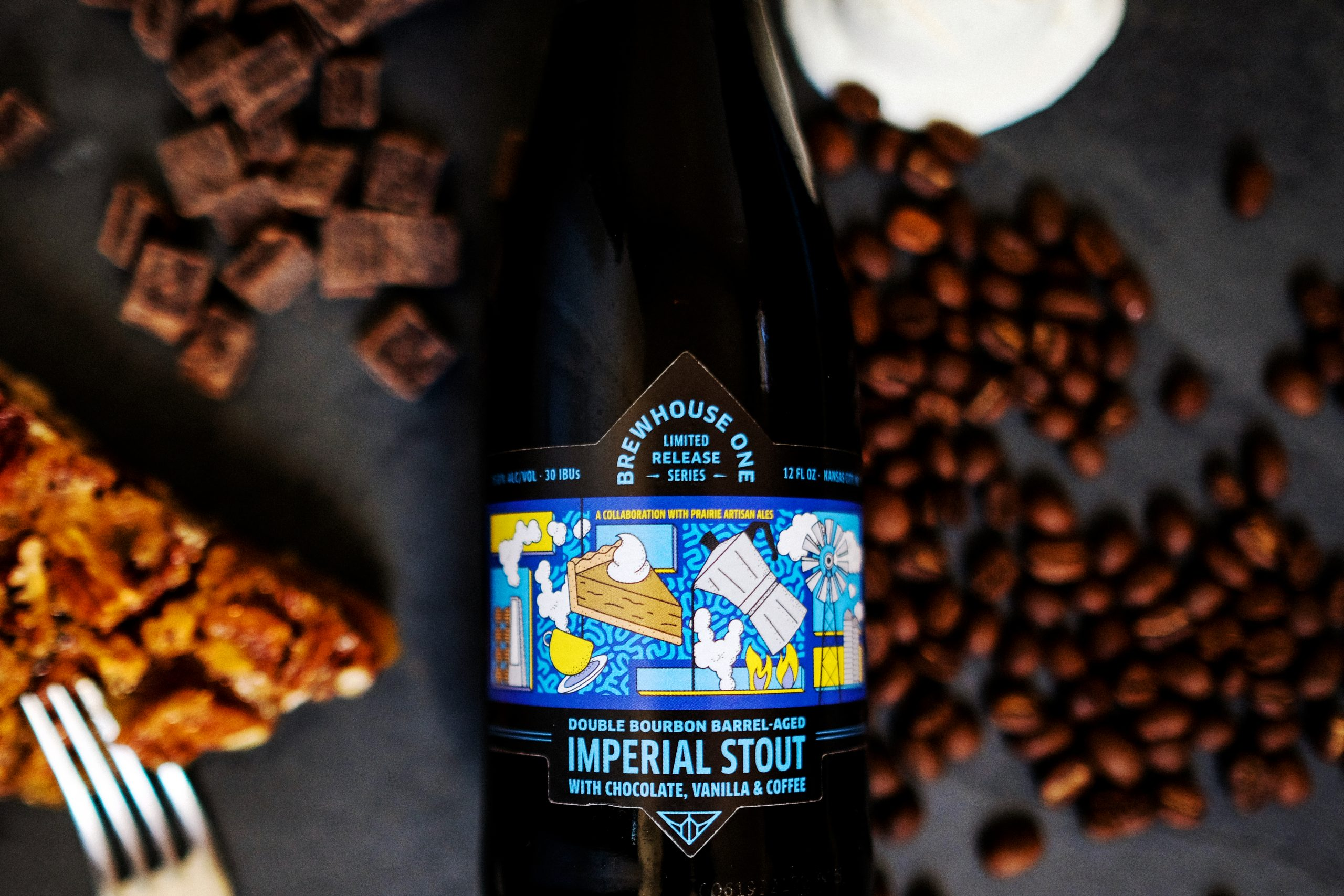 Double Bourbon Barrel-Aged Imperial Stout with Chocolate, Vanilla & Coffee