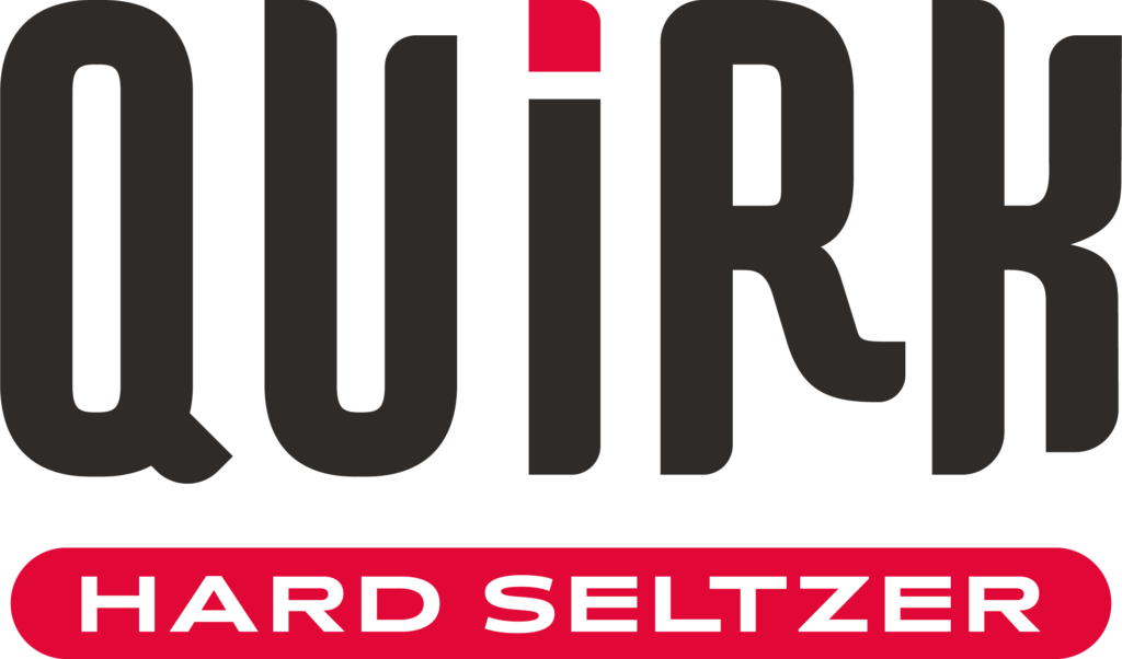quirk logo black font
