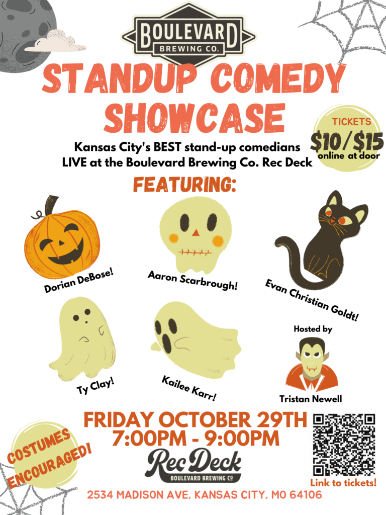 Comedy night at tours and rec event poster
