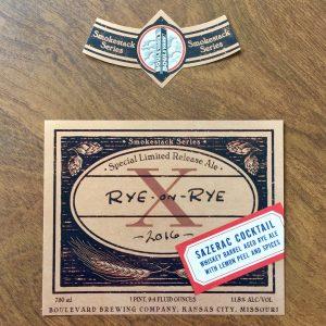 Rye Sazerac Label